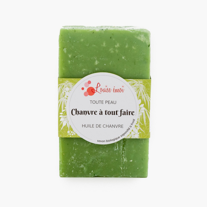 Savon solide multi-usage au Chanvre - Louise Emoi