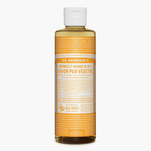 Savon liquide multi-usage Agrumes Orange | Dr Bronner's