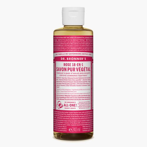Savon liquide multi-usage Rose | Dr Bronner's
